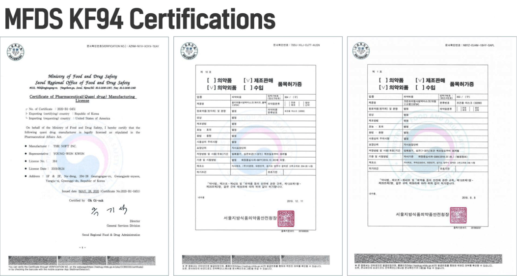 ALL KEEPER MASK CERTIFICATES